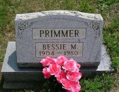 PRIMMER, BESSIE M. - Vinton County, Ohio   BESSIE M. PRIMMER - Ohio Gravestone Photos