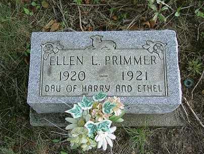 PRIMMER, ELLEN L. - Vinton County, Ohio | ELLEN L. PRIMMER - Ohio Gravestone Photos