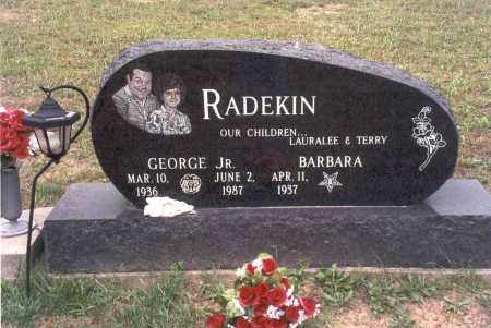 RADEKIN, JR, GEORGE - Vinton County, Ohio | GEORGE RADEKIN, JR - Ohio Gravestone Photos