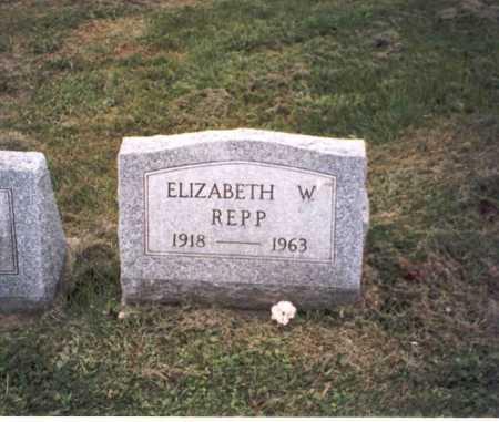 REPP, ELIZABETH W. - Vinton County, Ohio   ELIZABETH W. REPP - Ohio Gravestone Photos