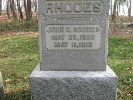 RHODES, JOHN C. - Vinton County, Ohio | JOHN C. RHODES - Ohio Gravestone Photos