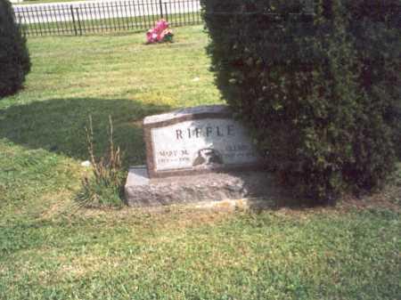 COOPER RIFFLE, MARY - Vinton County, Ohio   MARY COOPER RIFFLE - Ohio Gravestone Photos
