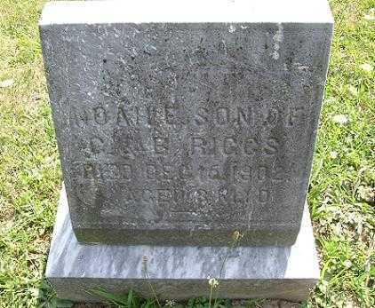 RIGGS, NOAH EVAN - Vinton County, Ohio   NOAH EVAN RIGGS - Ohio Gravestone Photos