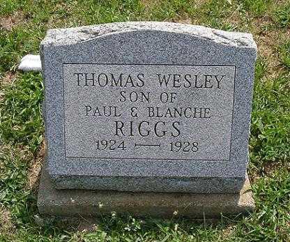 RIGGS, THOMAS WESLEY - Vinton County, Ohio | THOMAS WESLEY RIGGS - Ohio Gravestone Photos