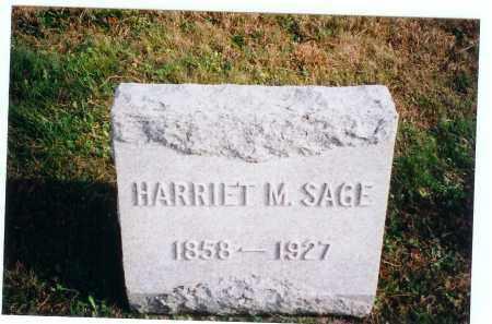 SAGE, HARRIET M. - Vinton County, Ohio   HARRIET M. SAGE - Ohio Gravestone Photos
