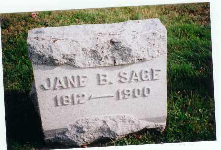 SAGE, JANE B. - Vinton County, Ohio   JANE B. SAGE - Ohio Gravestone Photos