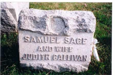 SAGE, SAMUEL - Vinton County, Ohio | SAMUEL SAGE - Ohio Gravestone Photos