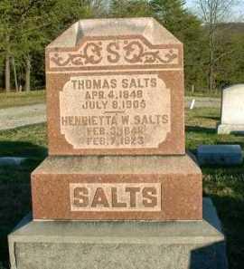 SALTS, HENRIETTA W. - Vinton County, Ohio | HENRIETTA W. SALTS - Ohio Gravestone Photos