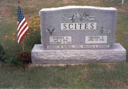SCITES, WORTHY A. - Vinton County, Ohio | WORTHY A. SCITES - Ohio Gravestone Photos