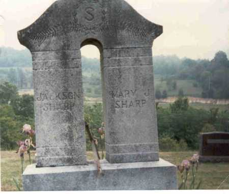 BACKUS SHARP, MARY J. - Vinton County, Ohio | MARY J. BACKUS SHARP - Ohio Gravestone Photos