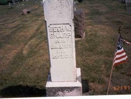 SHARP, SETH W. - Vinton County, Ohio   SETH W. SHARP - Ohio Gravestone Photos