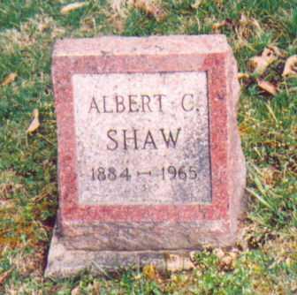 SHAW, ALBERT C. - Vinton County, Ohio   ALBERT C. SHAW - Ohio Gravestone Photos