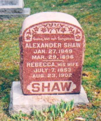 SHAW, ALEXANDER - Vinton County, Ohio | ALEXANDER SHAW - Ohio Gravestone Photos