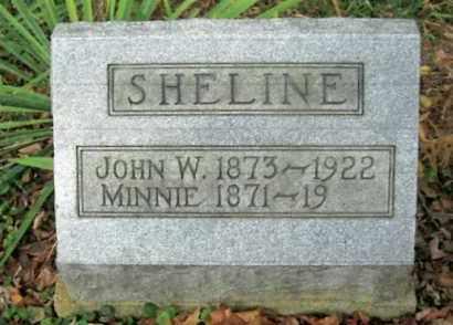 SHELINE, MINNINE - Vinton County, Ohio | MINNINE SHELINE - Ohio Gravestone Photos