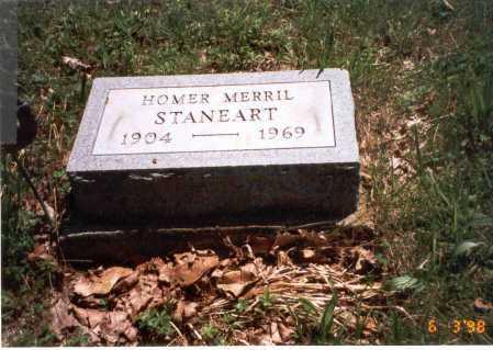 STANEART, HOMER MERRIL - Vinton County, Ohio | HOMER MERRIL STANEART - Ohio Gravestone Photos