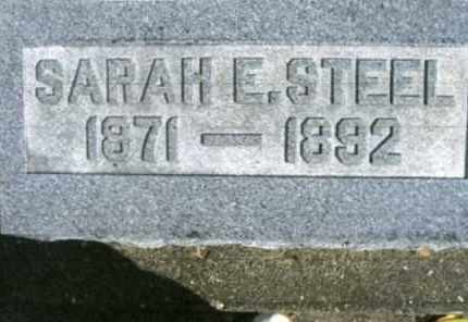STEEL, SARAH - Vinton County, Ohio | SARAH STEEL - Ohio Gravestone Photos