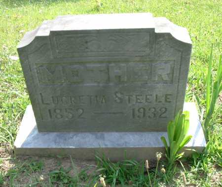 STEELE, LUCRETIA - Vinton County, Ohio   LUCRETIA STEELE - Ohio Gravestone Photos