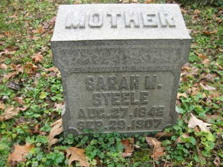 CROWELL STEELE, SARAH M. - Vinton County, Ohio | SARAH M. CROWELL STEELE - Ohio Gravestone Photos