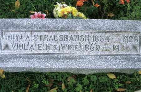 STRAUSBAUGH, JOHN ALBERT - Vinton County, Ohio | JOHN ALBERT STRAUSBAUGH - Ohio Gravestone Photos