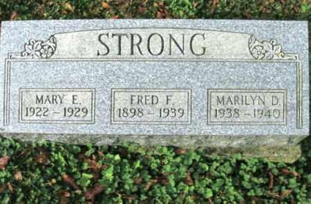 STRONG, MARY E. - Vinton County, Ohio | MARY E. STRONG - Ohio Gravestone Photos