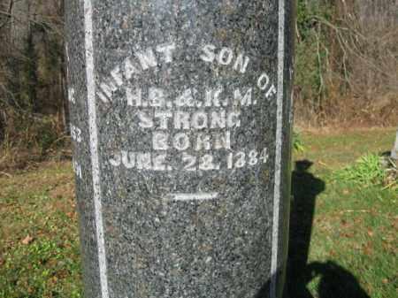 STRONG, INFANT SON - Vinton County, Ohio   INFANT SON STRONG - Ohio Gravestone Photos