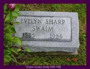 SWAIM, EVELYN - Vinton County, Ohio   EVELYN SWAIM - Ohio Gravestone Photos