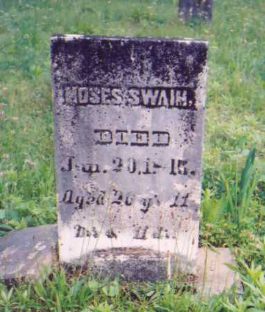 SWAIM, MOSES - Vinton County, Ohio | MOSES SWAIM - Ohio Gravestone Photos