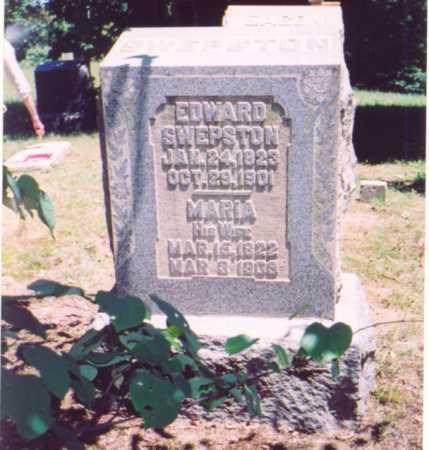 SWEPSTON,, EDWARD - Vinton County, Ohio | EDWARD SWEPSTON, - Ohio Gravestone Photos