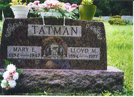 TATMAN, LLOYD M. - Vinton County, Ohio | LLOYD M. TATMAN - Ohio Gravestone Photos