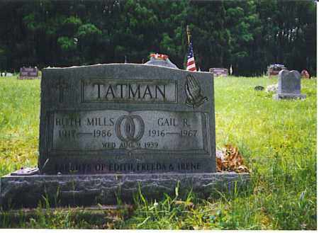 TATMAN, GAIL RONALD - Vinton County, Ohio | GAIL RONALD TATMAN - Ohio Gravestone Photos