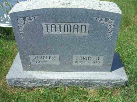 TATMAN, SARAH A. - Vinton County, Ohio | SARAH A. TATMAN - Ohio Gravestone Photos