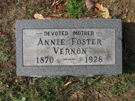 FOSTER VERNON, ANNIE - Vinton County, Ohio | ANNIE FOSTER VERNON - Ohio Gravestone Photos