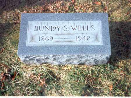 WELLS, BUNDY S. - Vinton County, Ohio | BUNDY S. WELLS - Ohio Gravestone Photos