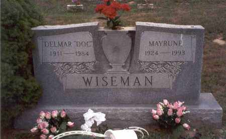 WISEMAN, MAYRUNE - Vinton County, Ohio   MAYRUNE WISEMAN - Ohio Gravestone Photos