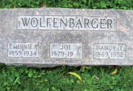 NUTTER WOLFENBARGER, NANCY E. - Vinton County, Ohio | NANCY E. NUTTER WOLFENBARGER - Ohio Gravestone Photos