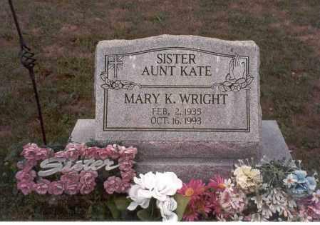 WRIGHT, MARY K. - Vinton County, Ohio   MARY K. WRIGHT - Ohio Gravestone Photos