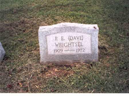WRIGHTSEL, P.E.  (DAVE) - Vinton County, Ohio | P.E.  (DAVE) WRIGHTSEL - Ohio Gravestone Photos