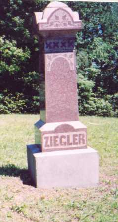 ZIEGLER, MONUMENT - Vinton County, Ohio | MONUMENT ZIEGLER - Ohio Gravestone Photos