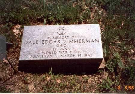 ZIMMERMAN, DALE EDGAR - Vinton County, Ohio | DALE EDGAR ZIMMERMAN - Ohio Gravestone Photos