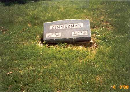 ZIMMERMAN, CLISTA O. - Vinton County, Ohio | CLISTA O. ZIMMERMAN - Ohio Gravestone Photos