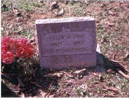 ZINN, HELEN MARIE - Vinton County, Ohio | HELEN MARIE ZINN - Ohio Gravestone Photos