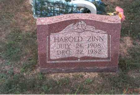 ZINN, HAROLD - Vinton County, Ohio   HAROLD ZINN - Ohio Gravestone Photos