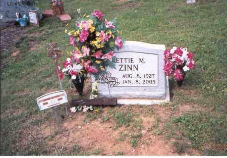 ZINN, NETTIE M. - Vinton County, Ohio | NETTIE M. ZINN - Ohio Gravestone Photos