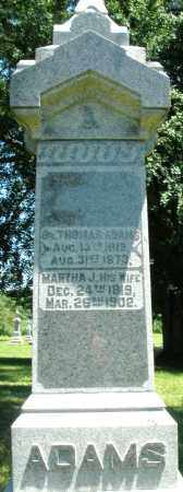 ADAMS, MARTHA J. - Warren County, Ohio | MARTHA J. ADAMS - Ohio Gravestone Photos