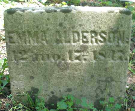 ALDERSON, EMMA - Warren County, Ohio | EMMA ALDERSON - Ohio Gravestone Photos
