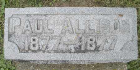 ALLISON, PAUL - Warren County, Ohio | PAUL ALLISON - Ohio Gravestone Photos