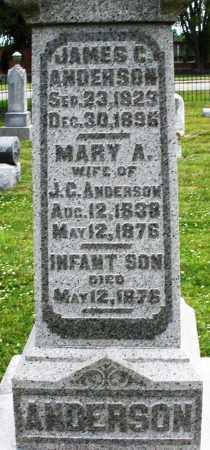 ANDERSON, MARY A. - Warren County, Ohio | MARY A. ANDERSON - Ohio Gravestone Photos