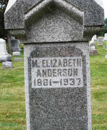 ANDERSON, M. ELIZABETH - Warren County, Ohio | M. ELIZABETH ANDERSON - Ohio Gravestone Photos