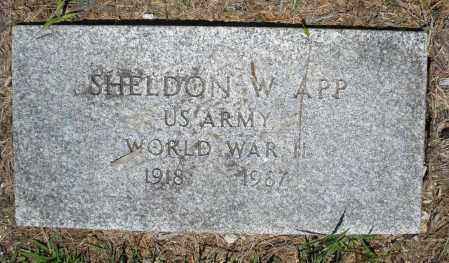 APP, SHELDON W. - Warren County, Ohio | SHELDON W. APP - Ohio Gravestone Photos