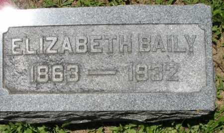 BAILY, ELIZABETH - Warren County, Ohio | ELIZABETH BAILY - Ohio Gravestone Photos